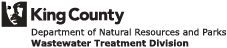 Logo of the King County Department of Natural Resources and Parks, Wastewater Treatment Division.